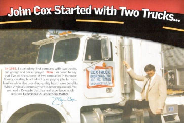 Cox Started with Two Trucks